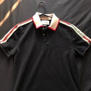 327b76f6b Gucci Shirts | Technical Logo Ribbon Polo Men Black Size M | Poshmark